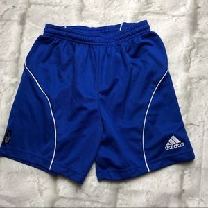 Adidas climalite blue shorts small boys